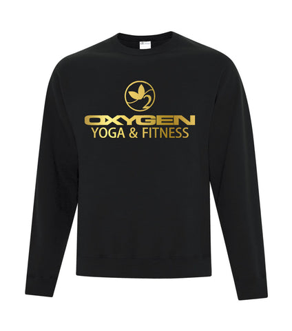 Gold Oxygen Yoga Crewneck Sweater