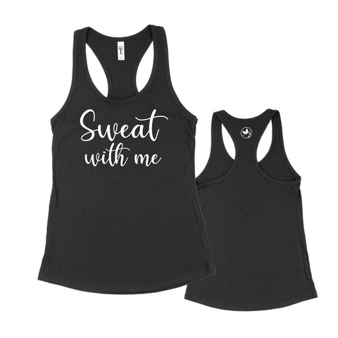 Sweat with me Racerback