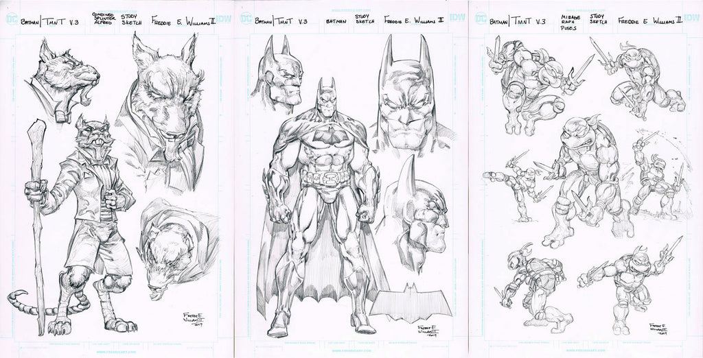 Some of Freddie's sketches