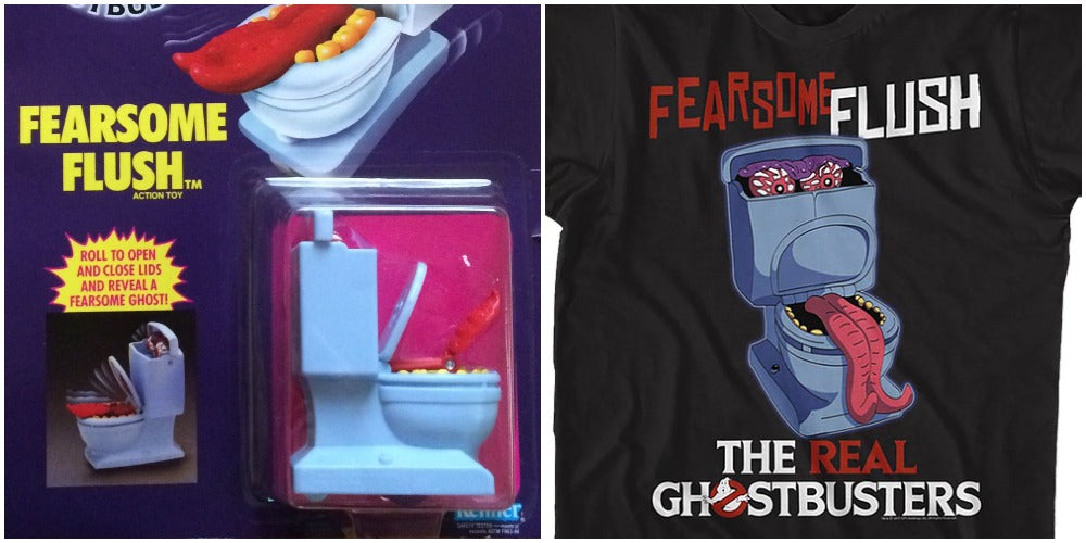 Ghostbusters & Fearsome Flush Toy and Shirt