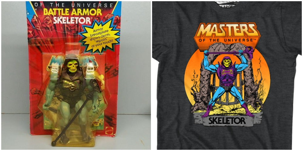 Masters of the Universe & Battle Armor Skeletor Action Figure and Shirt