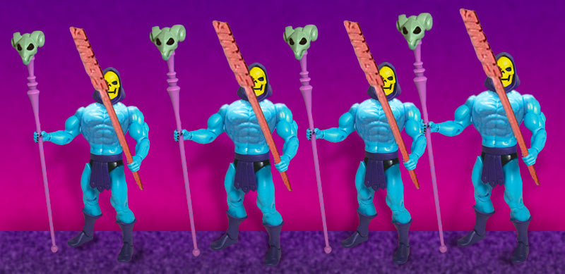 Squad of Skeletor Clones with Sonic Fast Food Toothpicks