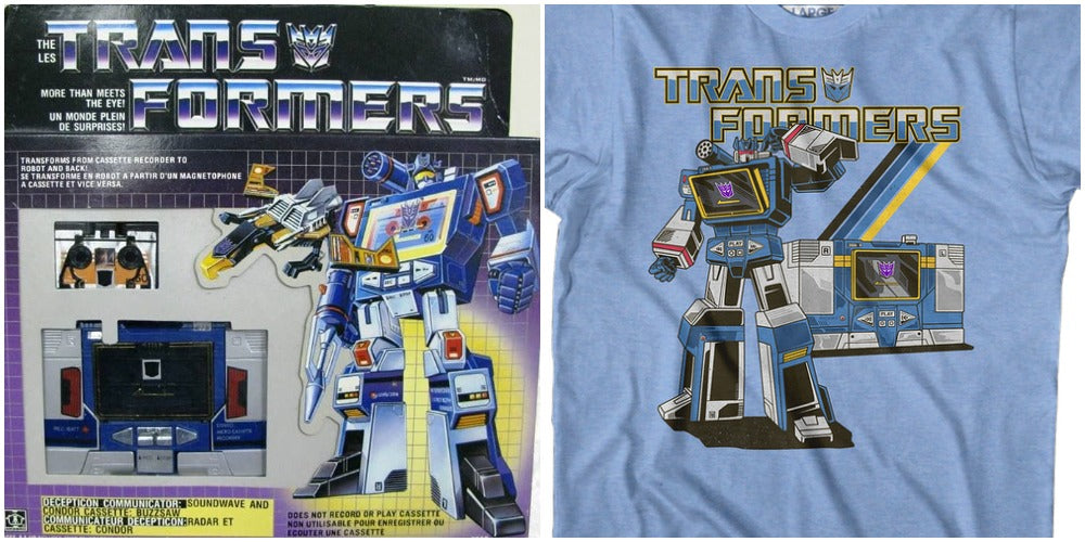 Image of Transformers Soundwave Action Figure and Shirt
