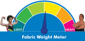 The Fabric is medium weight