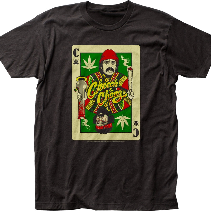playing card cheech and chong t shirt