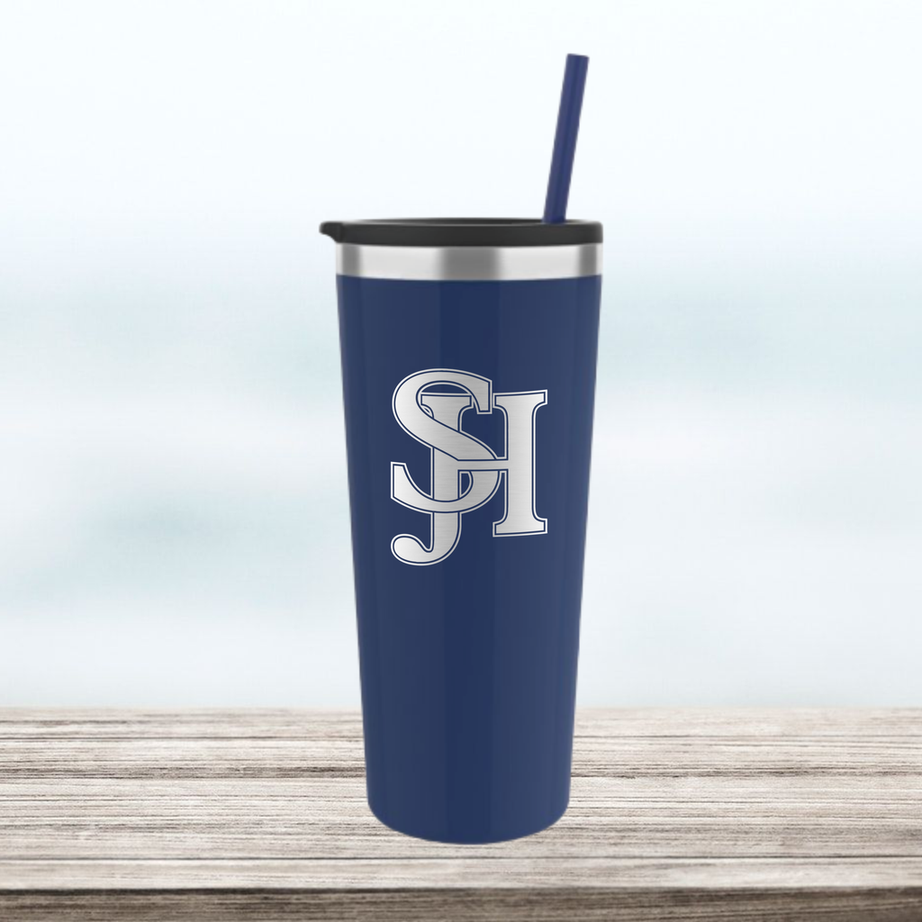 SJHHS (Logo Only) - 22 oz Tumbler  - Navy Blue