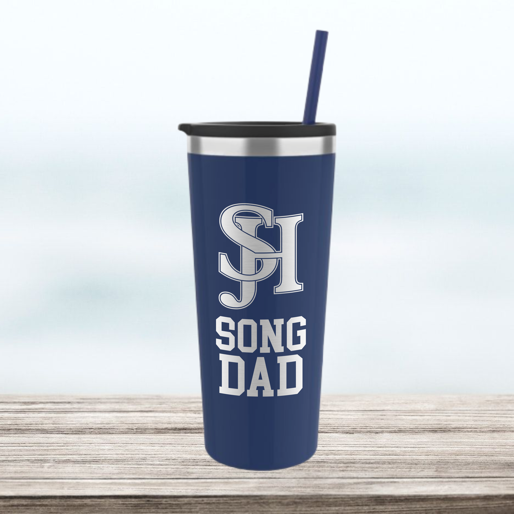 "SJHHS ""Song Dad"" - 22 oz Tumbler - Navy Blue"