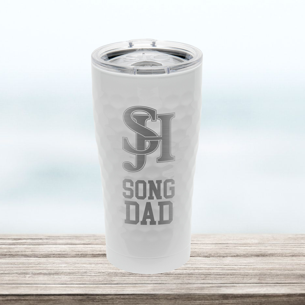 "SJHHS ""Song Dad"" - 20 oz Tumbler - Hammered White"