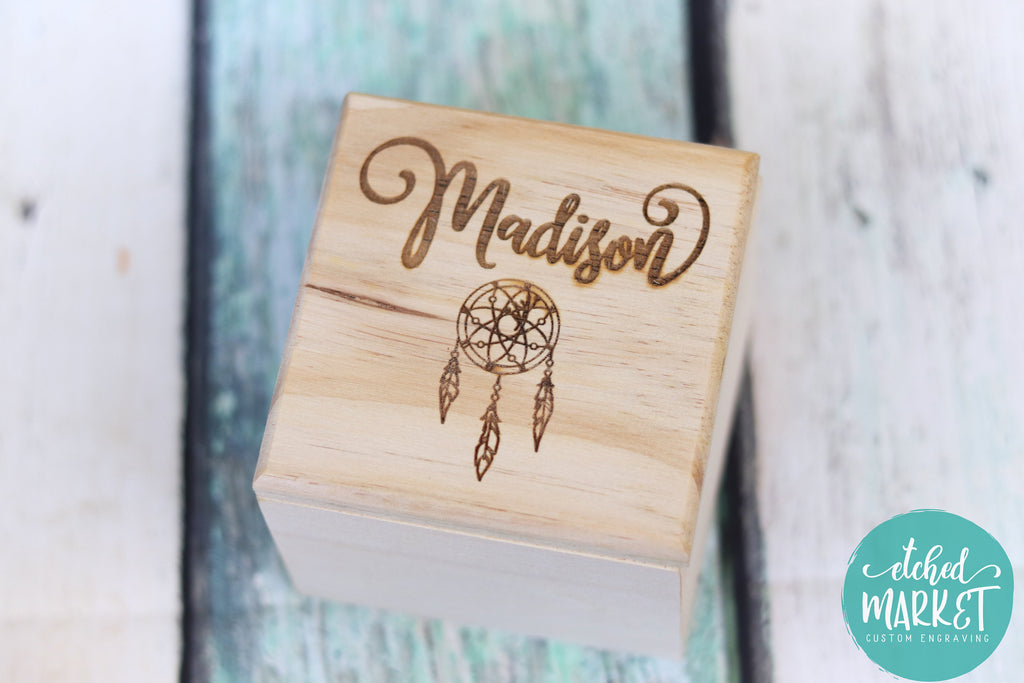 Custom Wooden Box with note, Flower Girl Gift, Best Friend BFF, Gift for girls, trinket Jewelry Box, Personalize Birthday gift, Bridesmaid