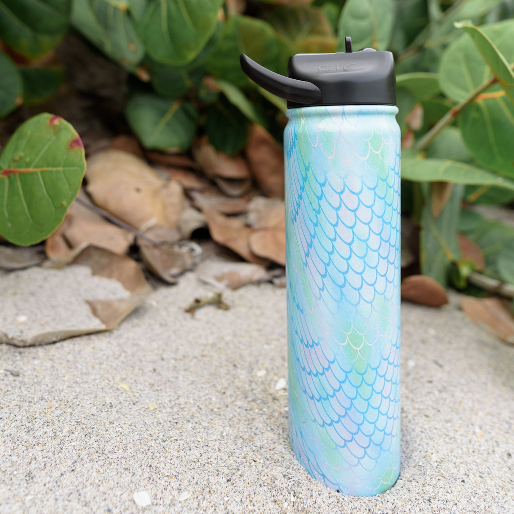 Wild One | Engraved 27 oz Stainless Steel Double-Walled Sports Water Bottle with Straw