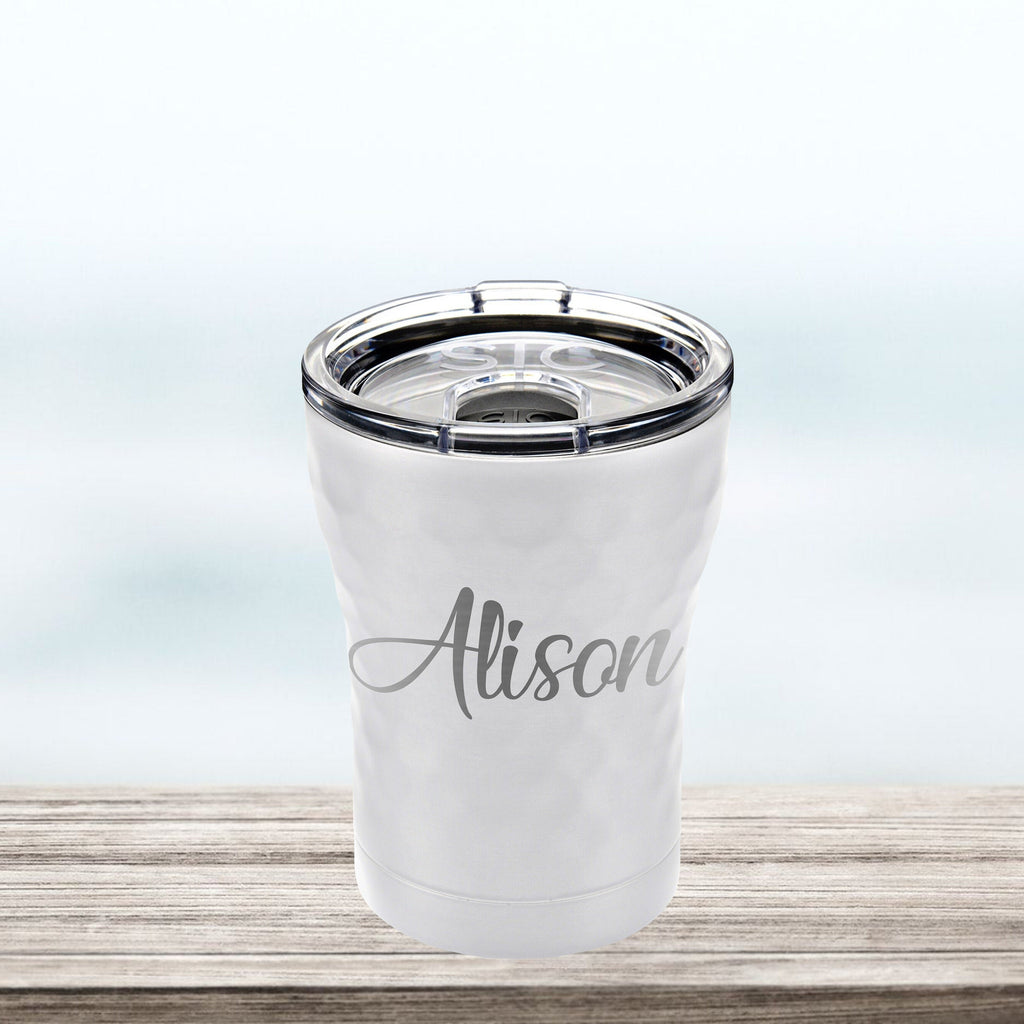 Personalized 12 OZ Tumbler, Custom coffee cocktail wine cup, stainless steel, SIC cup rose gold hammered copper bridesmaid groomsman gift