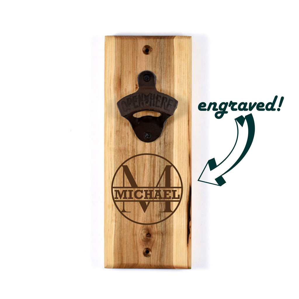 Custom Engraved Bottle Opener | Personalized Gift | Gift for Him, Father's Day, Groomsmen, Best Man, Man Cave, Wedding, Housewarming, beer