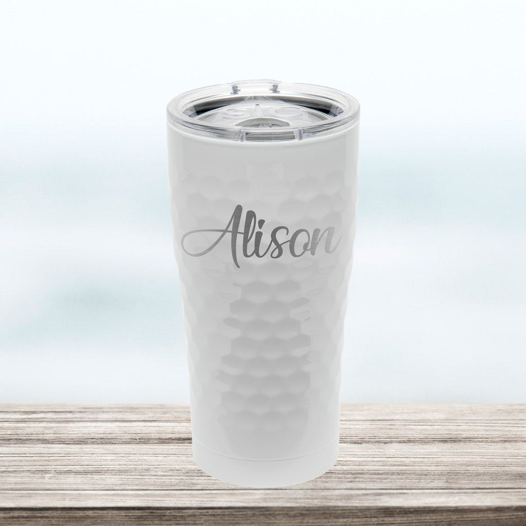 PERSONALIZED | 20 oz Engraved Tumbler with Lid