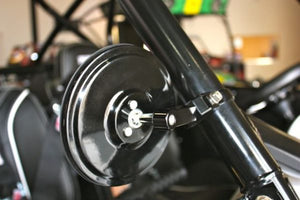 "5.0"" Round FLAT GLASS Billet Arm Side Mirror"