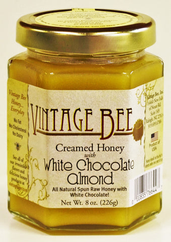 White Choc Almond-8oz - Vintage Bee Honey - 1