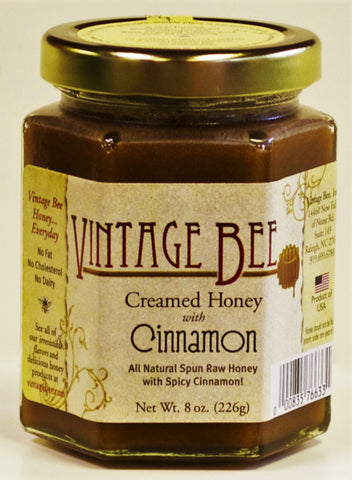 Cinnamon Honey-8oz - Vintage Bee Honey - 1