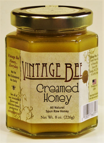 Plain Creamed Honey-8oz - Vintage Bee Honey - 1