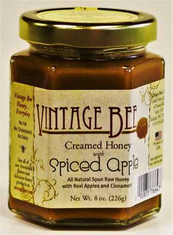 Spiced Apple Honey-8oz - Vintage Bee Honey - 1
