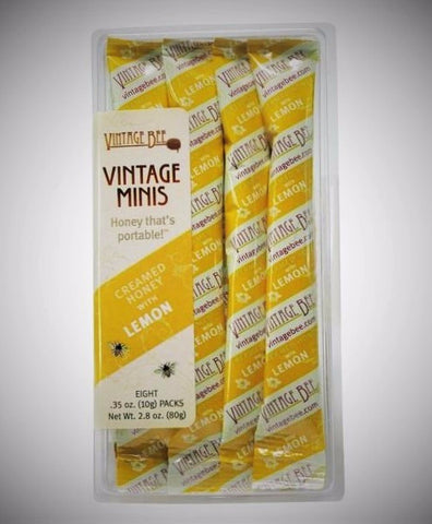 (8 Packets) Lemon Honey - Vintage Bee Honey - 1