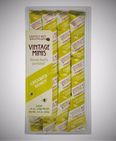 Plain Raw Minis 2.8-oz. (8 Packets) - Vintage Bee Honey