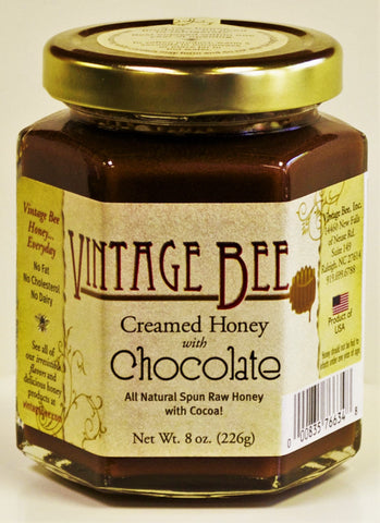 Chocolate Honey-8oz - Vintage Bee Honey - 1