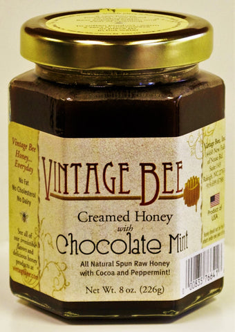 Chocolate Mint Honey-8oz - Vintage Bee Honey - 1
