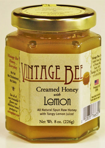 Lemon Creamed Honey-8oz - Vintage Bee Honey - 1