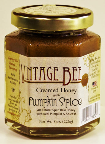 Pumpkin Spice Honey-8oz - Vintage Bee Honey - 1