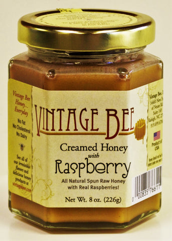 Raspberry Honey-8oz - Vintage Bee Honey - 1