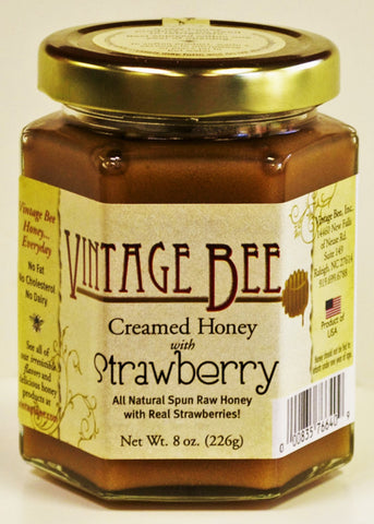 Strawberry Honey-8oz - Vintage Bee Honey - 1