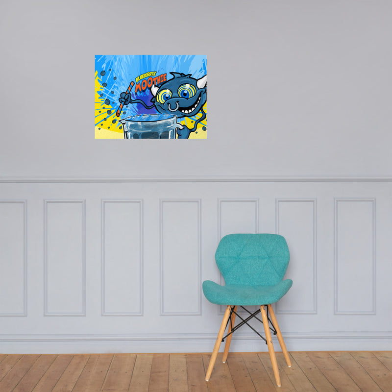 Blueberrys MOOthie - Wall Poster