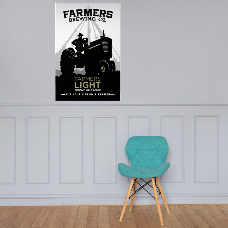 Farmers Light Lager - Wall Poster