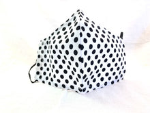 Load image into Gallery viewer, Polka Dots - Black Polka Dots on White Mask