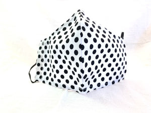 Polka Dots - Black Polka Dots on White Mask