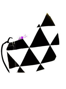 Geometric - Black & White Triangles      SOLD OUT!