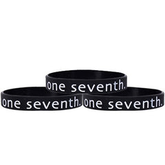 One Seventh Black Silicone Bracelet Combo