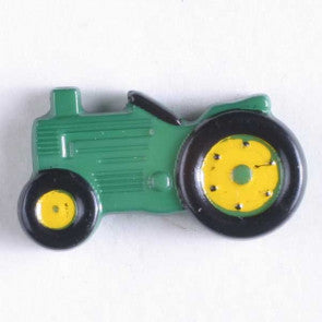 Green Tractor Themed button - 25 mm