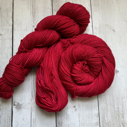DK - Doctor Who goes to Westeros™ (RED WEDDING) Semi-Solid Kettle Dyed - 274yds 3.5 oz RTS (816)