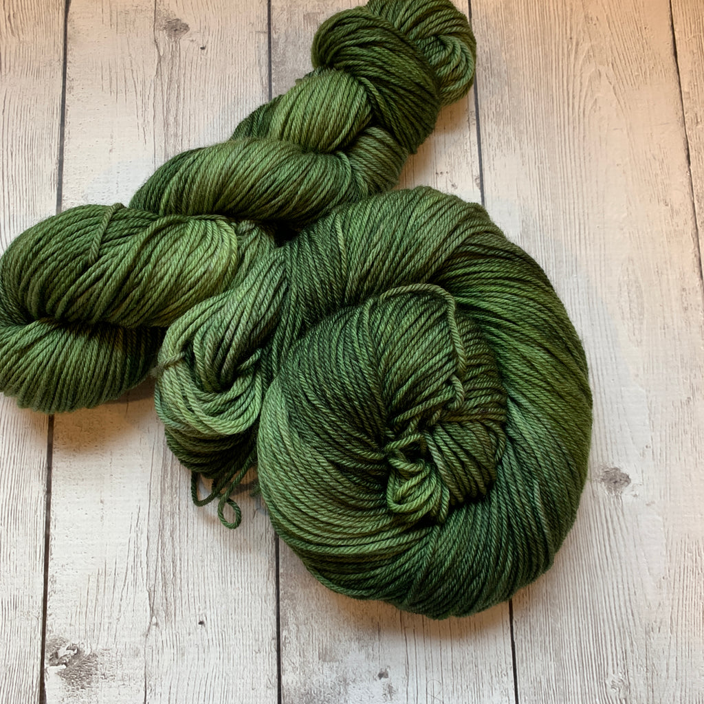 WORSTED - Dr Who Goes to Westeros (CHILDREN of the FOREST)  ™ semi-solid Kettle dyed - 218 yds (226)
