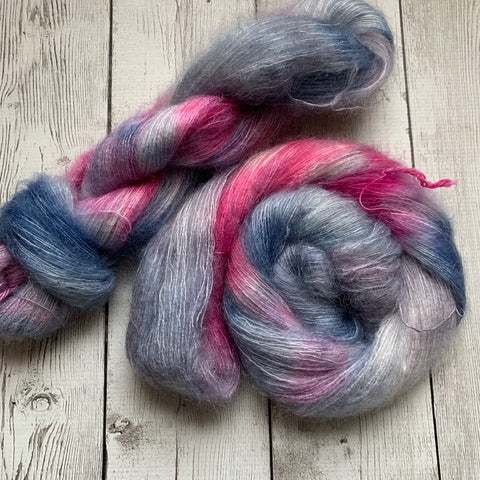 LACE - HAPPY RAIN™  Mohair/Silk Lace Hand Paint - 459 yds RTS (122719)