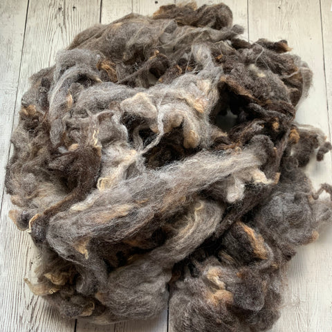 Washed Raw Fiber WOOL - Cheviot/Shetland Cross 4 oz