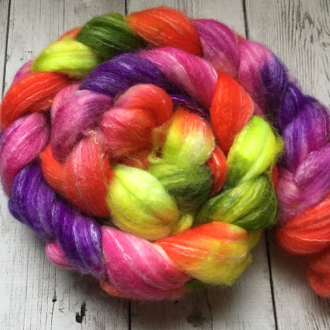 "SW Merino/Bamboo/Nylon Spin Top - ""This BRAID is SO BRIGHT"" - 4.4 oz RTS (1120)"