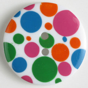 Colorful Polka Dot Fashion Button