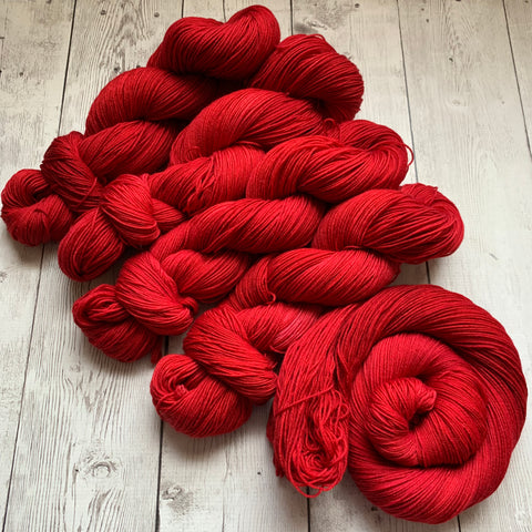 SOCK WEIGHT - RUBY -  Semi-Solid  - 463 yds 3.5 oz  RTS (0103)