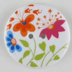 Flower Fashion Button