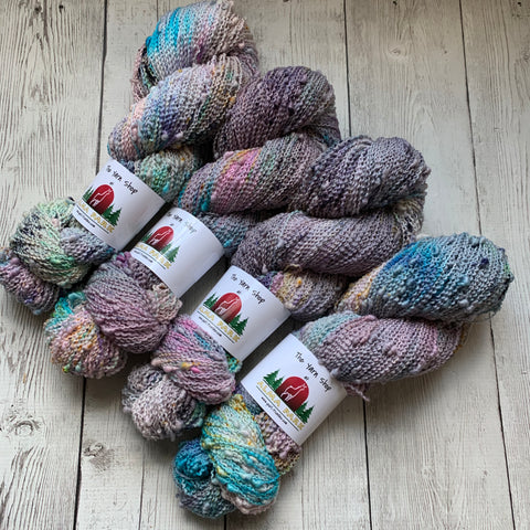 SLUB SOCK WEIGHT - ABSTRACT WATERCOLOR™ Kettle Dyed - 437 yds RTS (102020)