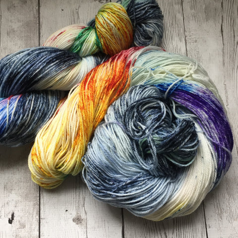 STORMY RAINBOW™ Speckled Fing/Sock Hand Paint - 490 yds RTS (924)