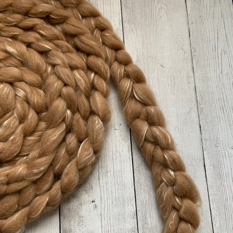 FARM ROVING - Alpaca / Merino / Silk - Roving from Champion SEBASTIAN - FAWN