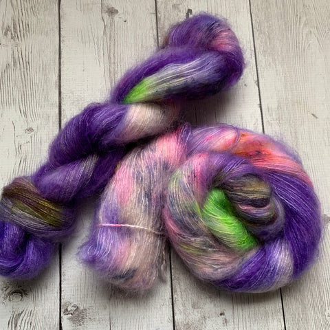 Lace - GYPSYS, TRAMPS & THIEVES™ -Mohair/Silk Lace Hand Painted/Speckle Dyed - 459 yds RTS (021820)