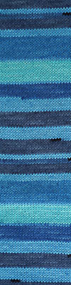 CASCADE Heritage Prints Sock Yarn Self Striping - 63 - Azul Stripe